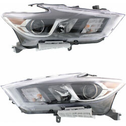 Fits Nissan Maxima Headlight 2016 2017 Lh And Rh Side Pair Dot Certified