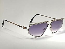 New Vintage T/51 Silver And Gold Plated 1980's Gradient Lenses Sunglasses
