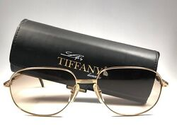 New Vintage T371 Gold Plated 1980's Gold Light Brown Lenses Sunglasses