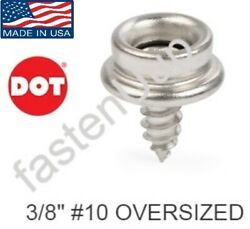 Dot Boat Canvas Stainless Steel Snap Stud Screw Oversized 10 3/8 Pick Qty