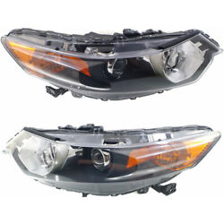 For Acura Tsx Headlight 2009-2014 Lh And Rh Pair/set Hid Capa Ac2502118