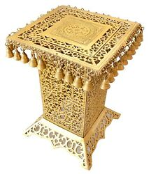 Brass Table Ethnic Design Brass Decorative Corner Table With Hanging Bells Table