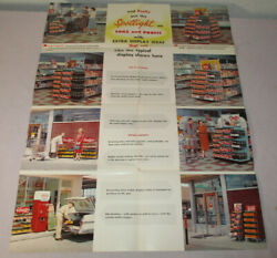 1958 Poster 17x22 Coca-cola Nice Business Store Sign Shelving Displays 2268