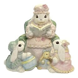 Patchville Bunnies 1993 Grandma Rose With Timothy And Tabitha Bd-695 Reading Bunny