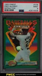 1993 Finest Refractor Fred Mcgriff All-star 106 Psa 9 Mint