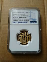 Litauen / Lithuania 50 Euro 2019 Gold Ngc Pf70 Uc First Releases Anlagegold