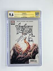 Venom 3 Cgc Ss 9.6 Signed 3xs Stan Lee,cates And Stegman Very Rare 1 Of 8