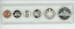 1966 Canada Year Set Silver 6 Coin Set In Case 5 Uncirculated 13023