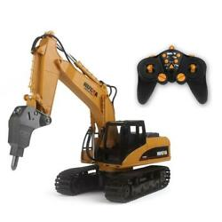 Huina Toy 560 2.4g 1/14 16ch Rc Broken Drill Excavator Rc Car Model Gift Battery