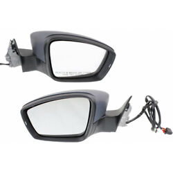 For 2012-2015 Volkswagen Passat Door Mirror Pair Driver And Passenger Side Power