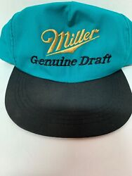 Miller Lite Beer Vintage 80s Style Trucker Hat Snapback Keg Beach Party Cap Blue