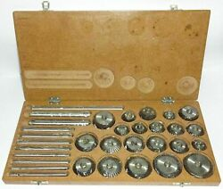 Valve Seat And Face Cutter Set - 21 Pcs Set For Vintage Cars And Bikes