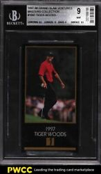 1997 Champions Of Golf Masters Collection Tiger Woods Rookie Bgs 9