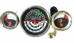 Re53664, Re54427, R34262 Temp Fuel Tachometer Gauge Set For Jd Tractor Fits In 1