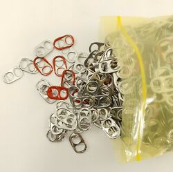Aluminum Can Pull Tabs Bag Full Silver And Red Colors Great For Craft Projects