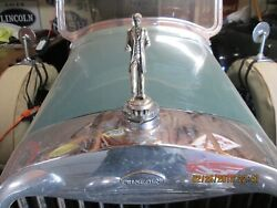 Lincoln Radiator Ornament - Cap 1926 1927 1928 Made By L.t. Barrick