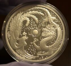 2018 1 Australia 1 Oz Silver Dragon And Phoenix Proof Coin