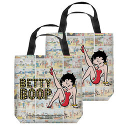 Betty Boop Vintage Strips Double Sided Tote Bag - 4 Sizes