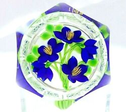 Gorgeous Perthshire Paperweight Ltd Ed Pp240 28 Of 75 Blue Bouquet Free Ship