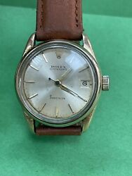 Vintage Rare Rolex Oyster 6466 Gold Plated Hand Wind 29m Watch R1