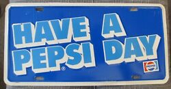 1999 Have A Pepsi Day Booster License Plate