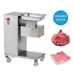 500kg Meat Slicer With One Set Blade Meat Cutting Machine Cutter 110v Hq