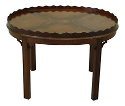 F50992ec Councill Craftsmen Chippendale Mahogany Coffee Table