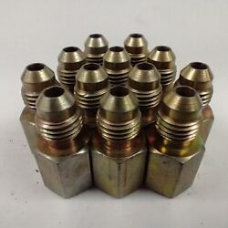 2401-04-02 1/8 Fjic To 1/4 Jic Steel Adapter Fittings Lot Of 12