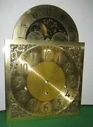 German Grandfather Clock Dial Triple Chime Rare Moon Phase