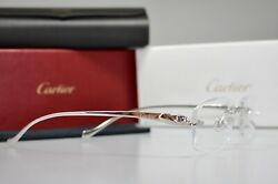 New Rimless Panthere Silver Smooth Occhiali Frame Sunglasses Lunette