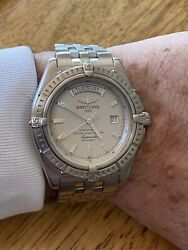Breitling Headwind Day-date A45355 Mens Automatic Watch Stainless Steel