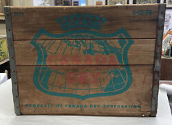 Vintage Canada Dry D11 S-12-58 Wooden Crate Bottle Box 1958 Advertising