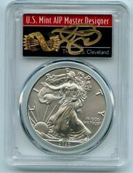 2020 Ase 1 Pcgs Ms70 Fs 1 Of 1000 Thomas Cleveland Arrows Label 1oz Silver Coin