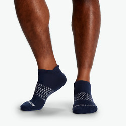 6 Pack Bombas Menand039s Solids Ankle Socks Navy Size L - Same Day Ship