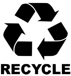 Recycle Decals For Garbage Cans Containers Bins 6 X 7