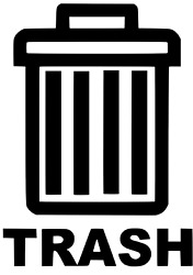 Trash Decals For Garbage Cans Containers Bins 6 X 7