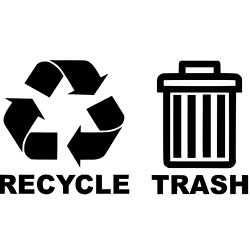 Recycle Trash Combo Decals For Garbage Cans Containers Bins 6 X 7