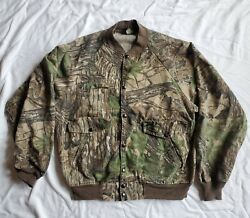 Vintage Usa Made Camouflage Spartan Chamois Jacket Large L Realtree Hunting