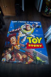 Toy Story 1 Style A Disney Pixar 4x6 Ft Vintage French Grande Movie Poster 1996