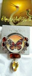 Amy Kahn Russell 37.00ct Butterfly Gemstone Pin Pendant Ss