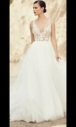 New Natural Mikaella Wedding Dress 2017 Spring Collection Style 2106 Size 10