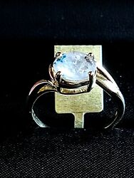 9 Ct Yellow Gold 1.57 Ct Extremely Rare Brazilian Gilalite Ring Size S