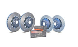 Girodisc Track Package For 08-17 Sti Front/rear Floating Rotors + S/s Pads