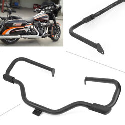 Engine Guard Crash Bar Black Highway Rail Fit Harley Touring Road King 1997-2008