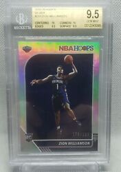 19-20 Zion Williamson Silver Hoops Variation /199 W/ 2 10 Subs Pelicans