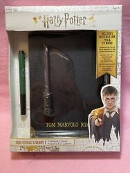 Harry Potter Tom Riddle's Diary Notebook And Invisible Ink Pen And Uv Wand Bnib