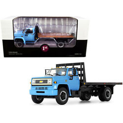 Chevrolet C65 Flatbed Truck Blue And Black 1/34 Diecast Model By First Gear 1...