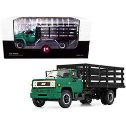 Chevrolet C65 Stake Truck Green And Black 1/34 Diecast Model By First Gear 10...