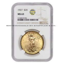 1927 20 Saint Gaudens Ngc Ms63 Gold Double Eagle Philadelphia Coin Pq Approved