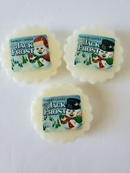 Yankee Candle Wax Tarts Jack Frost Lot Of 3 Tarts White Wax Sealed NEW